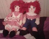 Raggedy Ann and Raggedy Andy Doll Set 20 inch