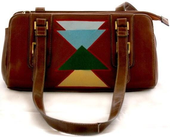 The Canyon Bag, Upcycled Vintage Handbag   NEW SALE PRICE