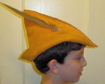Child's Hat - Gold Suede Pinocchio / Robin Hood / Peter Pan