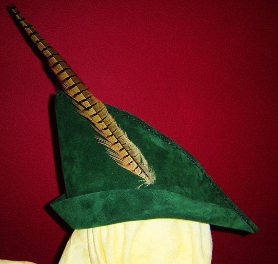 Robin Hood / Archer Hat - Hunter Green Suede