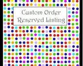 Custom Listing for Kelly Hubbard