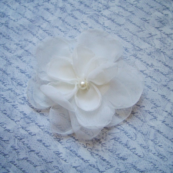 "Reserved for Codie JOSIE Brooch Pin and 2"" hairpiece in light ivory -rush order"