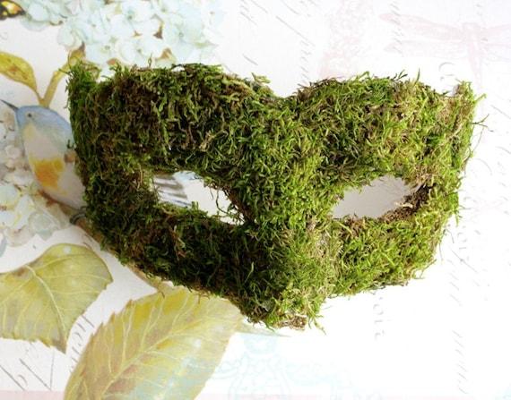 Woodland Queen Moss Venetian Masquerade Mask MADE TO ORDER