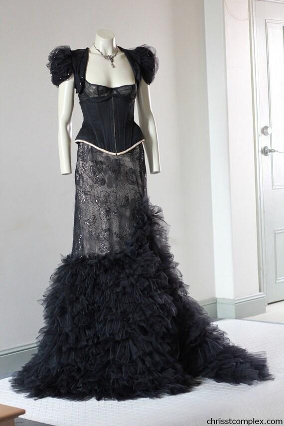Custom made Chrisst hand made wedding dress. Chrisst Unique Fashion
