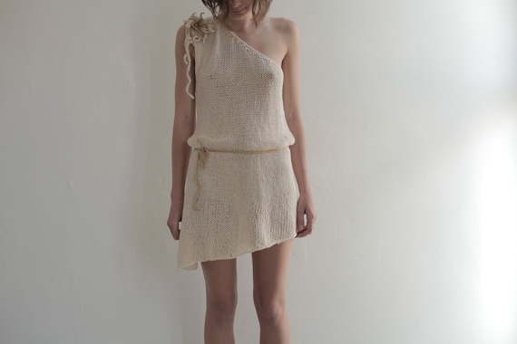 SALE - Single Strap Ivory Cream Tunic - 20% off - Ready to Ship SALE