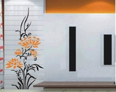 OFL596 Large--easy Instant Decoration Wall Sticker Deco-flower