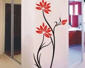 OFL453 Large--easy Instant Decoration Wall Sticker Deco-deco lotus