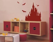 OFL255 Large--Easy instant decoration wall sticker decor-Castle
