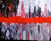 Abstract Acrylic Gallery Canvas 30x15 Original Painting
