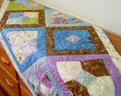 Table Runner or Bed Runner Gardens and Birds