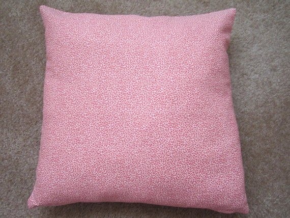 CLEARANCE - Pillow Cover - Pink Cotton Mini Leopard Print - 18 or 16 Inch CHOICE