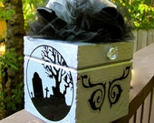 Cemetery, Tombstone Gift Box, Halloween Trinket Treasure Chest for Your Stash