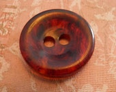Chunky Bakelite Marbled Root Beer Button