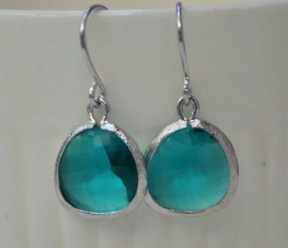 Earrings caribbean ocean blue silver