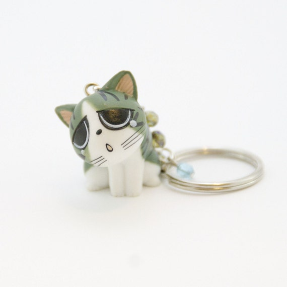 SALE Sad Kitty Keychain