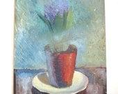 Still Life Hyacinth Vintage Painting