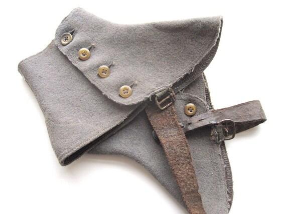 Victorian Leather Woolen Antique Spats