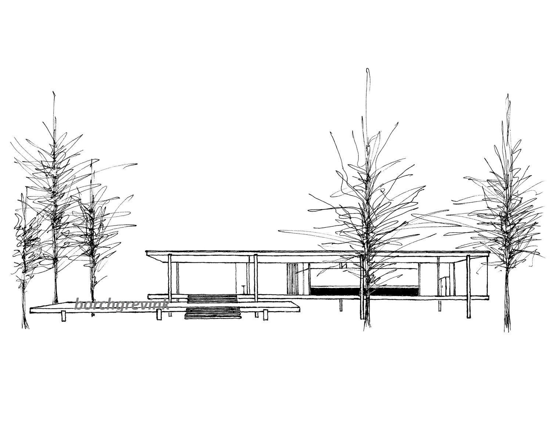Farnsworth house by mies van der rohe exterior 8 jpg -  Zoom