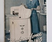 40s Modern Home Laundering Instruction Booklet