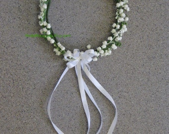 Lily of the Valley  Bridal Headpiece,  Lily of the Valley Floral Halo