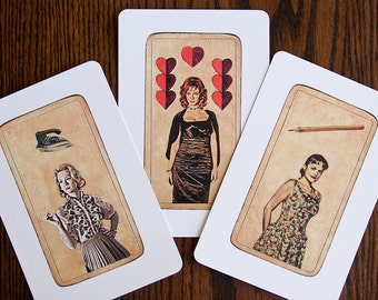 6 Mad Men Tarot Postcards