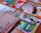 Eco Art Paper collage Postcards