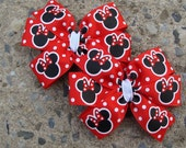 Custom Listing 1 Minnie Mouse Hair Bow in red and black