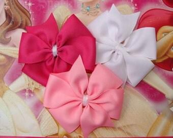 Princess Collection Set of 3 Large Everyday Pinwheel Hair Bows
