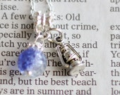 Purple Crystal Ball Nightingale Oil Lantern Silver Necklace Good Fortune