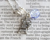 Purple Crystal Ball Rapunzel Spinning Wheel Silver Necklace Good Fortune