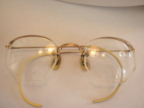Gold Filled Eyeglass Frames : Vintage Estate 1/20 12K Gold Filled Eyeglass Frames by ccalsun