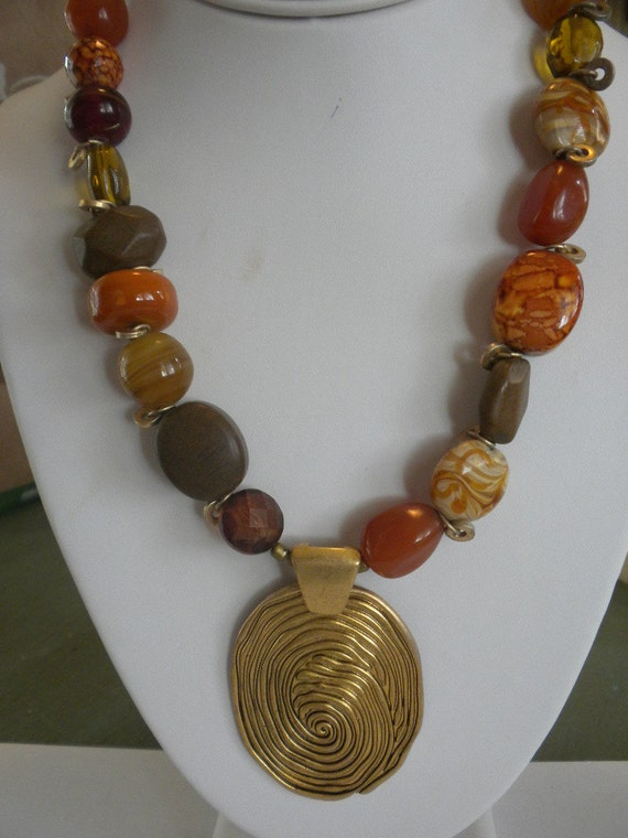 Vintage Chicos Funky Chunky Necklace FREE shipping