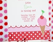 PRINTABLE PARTY INVITATION - Ice Cream Social Collection