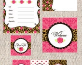PRINTABLE PARTY COLLECTION - Leopard Rose