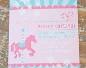 PRINTABLE PARTY INVITATION - Winter Carnival