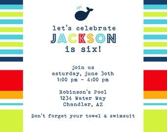 PRINTABLE PARTY INVITATION - Preppy Boy  Birthday or Baby Shower Invite - Fresh Chick Designs