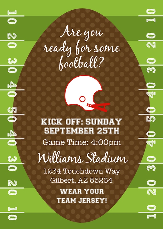 PARTY PRINTABLE Football or Tailgating Theme by ...