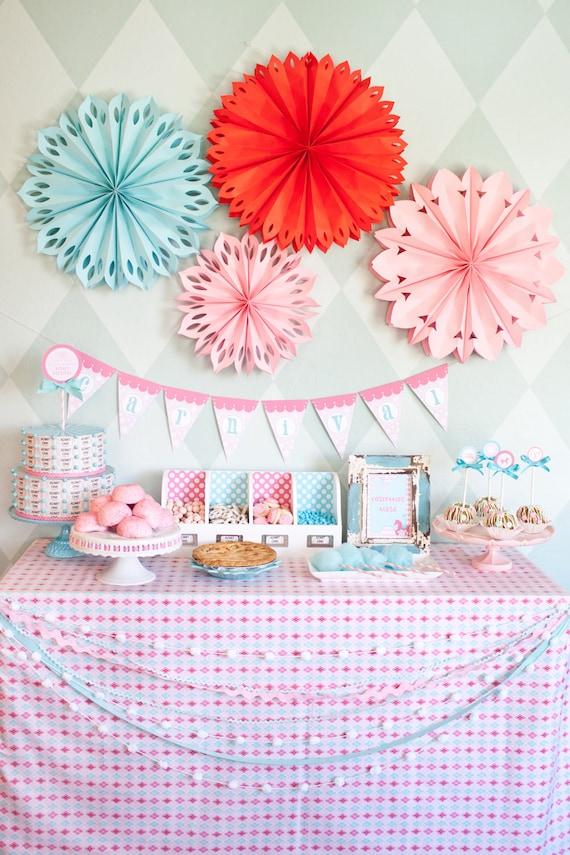 Winter Carnival/CIrcus Printable Birthday Party Invitation - Petite Party Studio