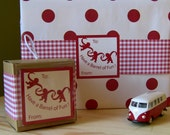Red Check Paper Ribbon Gift Wrap