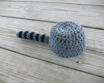 Crocheted 'Coon Skin Cap Raccoon Hat (newborn - 3 years)