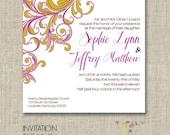 PRICE REDUCED ~Flora - Printable Wedding Invitation Suite