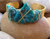 LUX Triple Turquoise Gemstone Cuff - luxdivine