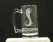 mustang cobra beer mug