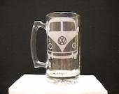 Vw bus on beer mug