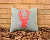 Applique Reindeer Throw Pillow