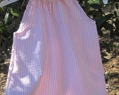 Custom order pink seersucker dress size 2/ shorts size 4