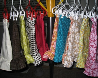 Set of 6 Pair of Single Ruffle Pants or Capri Mix and Match Your Colors 6 12 18 24 Months 2t 3t 4t 5t