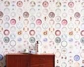 Colored Porcelain Wallpaper