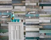 Scrapwood Wallpaper Green