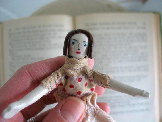 SALE / Vintage Styled / Handmade Art Doll / Janet / OOAK